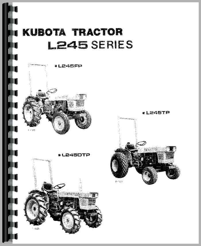 kubota l245 tractor operators manual rh agkits com kubota tractors manuals operators manual kubota tractors manual l2202dt