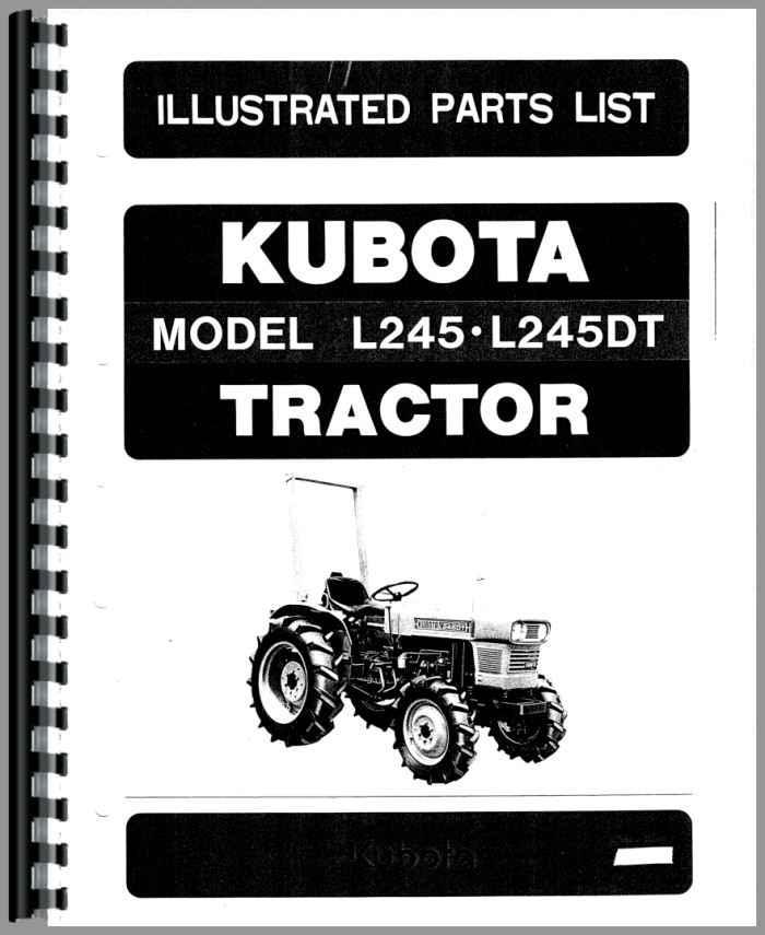 Kubota L245 Tractor Manual_94611_2__84815 kubota l245 tractor parts manual
