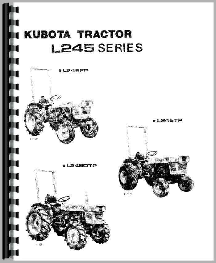 Kubota L245 Tractor Parts : Kubota l dt tractor operators manual