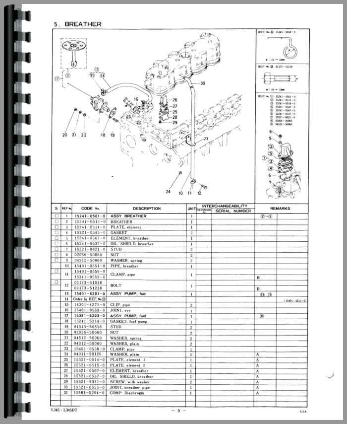 kubota l3130 parts diagram within kubota wiring and engine