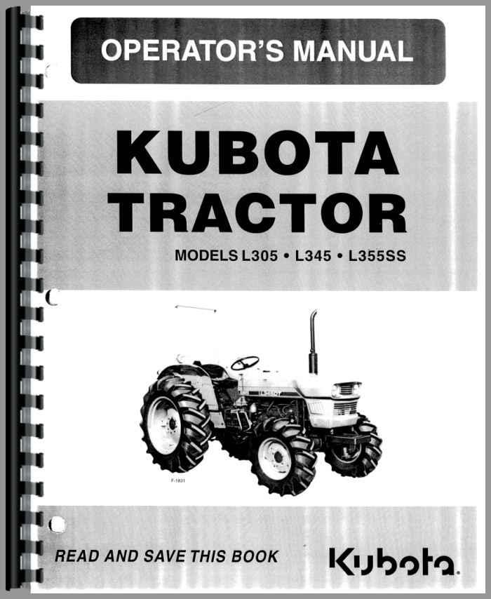 kubota l355ss tractor operators manual. Black Bedroom Furniture Sets. Home Design Ideas