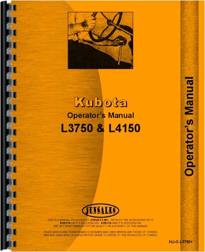 kubota l4150 tractor operators manual rh agkits com kubota b7000 service manual pdf Kubota B9200