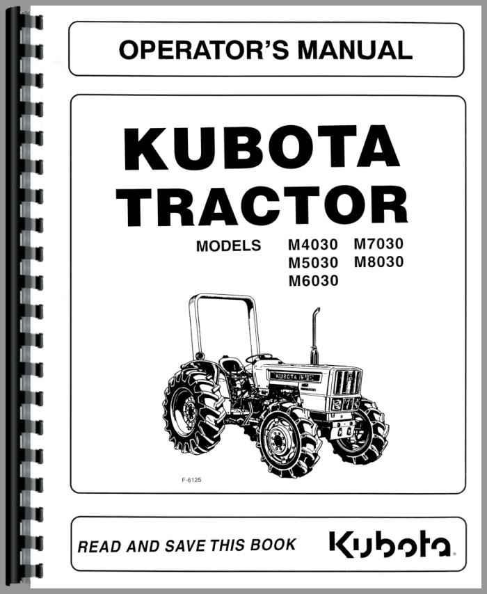 kubota m8030 tractor operators manual rh agkits com kubota mower manuals z125s kubota mower parts online
