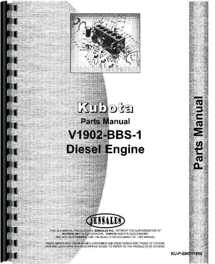 Kubota V1902 Bbs 1 Engine Parts Manual