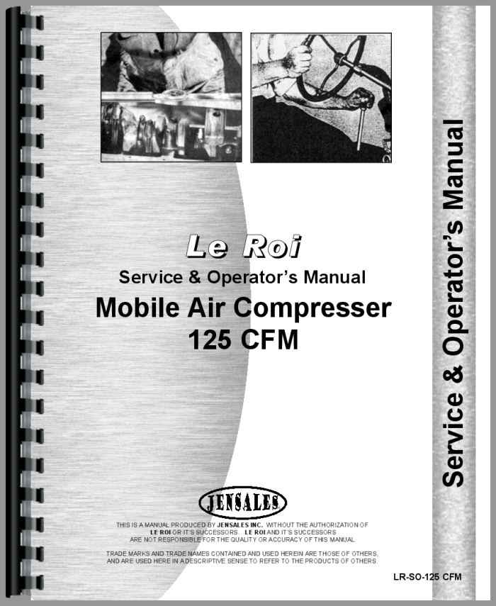 leroi 125 tract air tractor air compressor service operators manual rh agkits com leroi dresser air compressor manual leroi 175 air compressor manual
