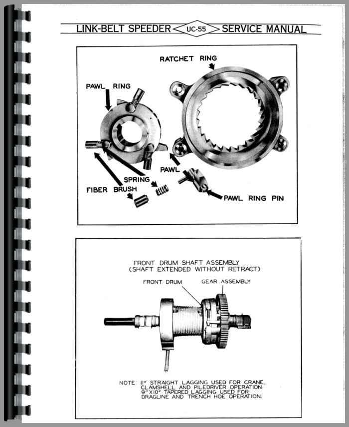 misc tractors link belt ls 2800 excavator service manual