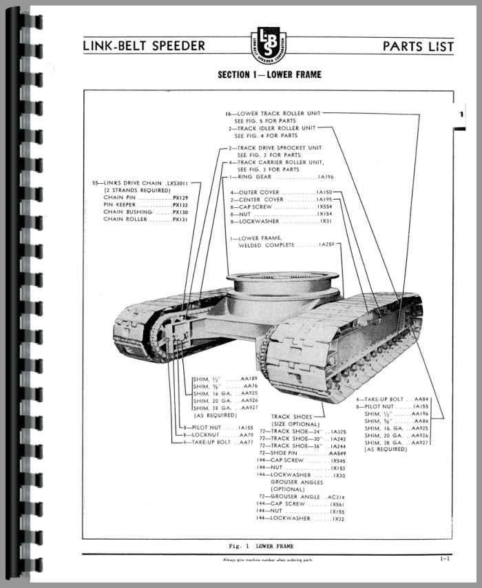 Link-belt heavy equipment manuals & books for link-belt crane | ebay.