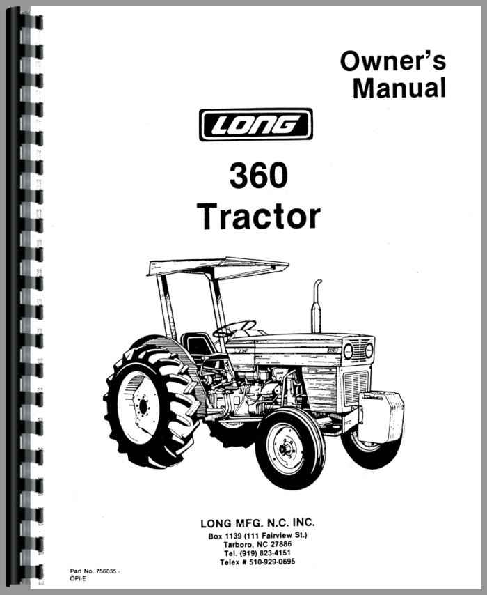 2610 long tractor owners manual