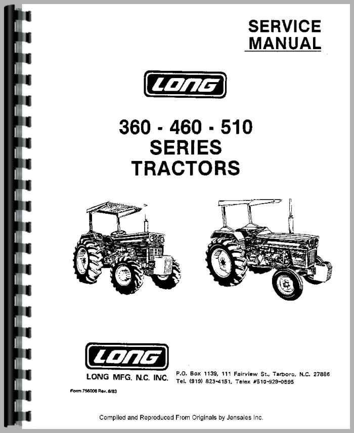 Long 445 Tractor Parts Diagram : Long tractor service manual