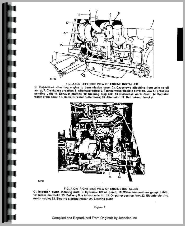 long 445 tractor service manual rh agkits com Ford Tractor Diesel Engines Diagram Ford 800 Tractor Engine Diagram