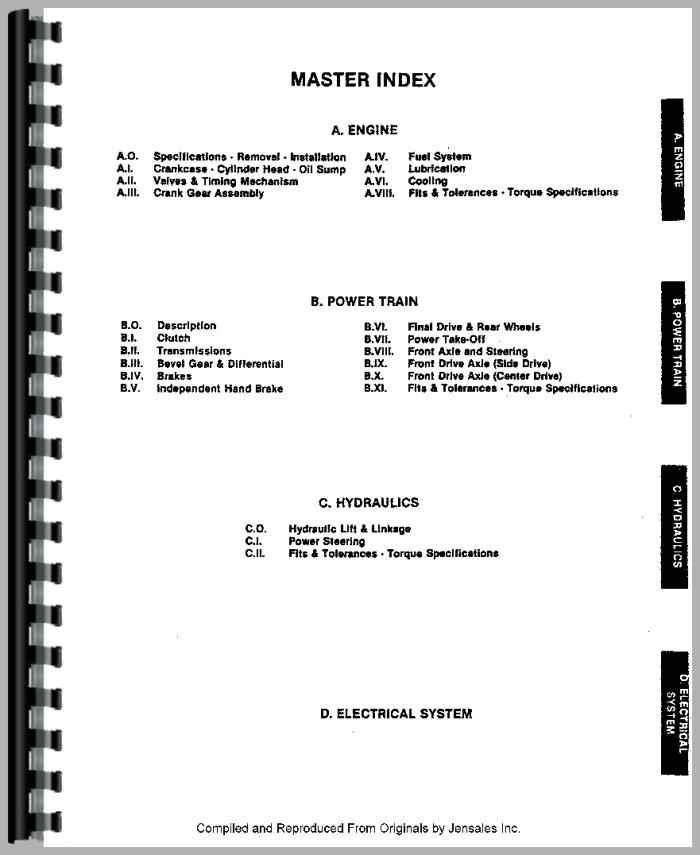 460 Long Tractor Hydraulic Filter : Long tractor service manual