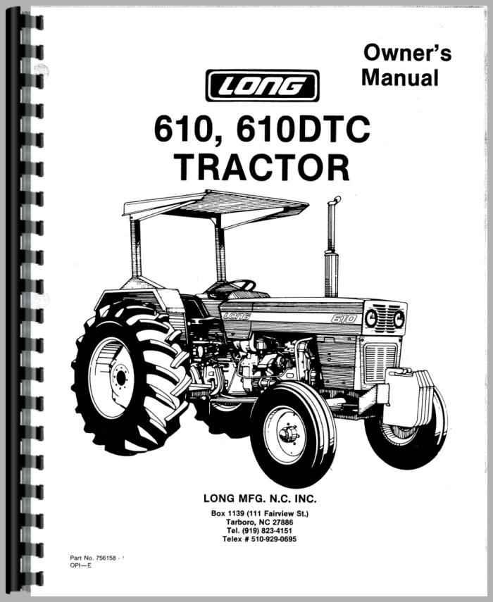 Long Tractor Parts : Long tractor operators manual