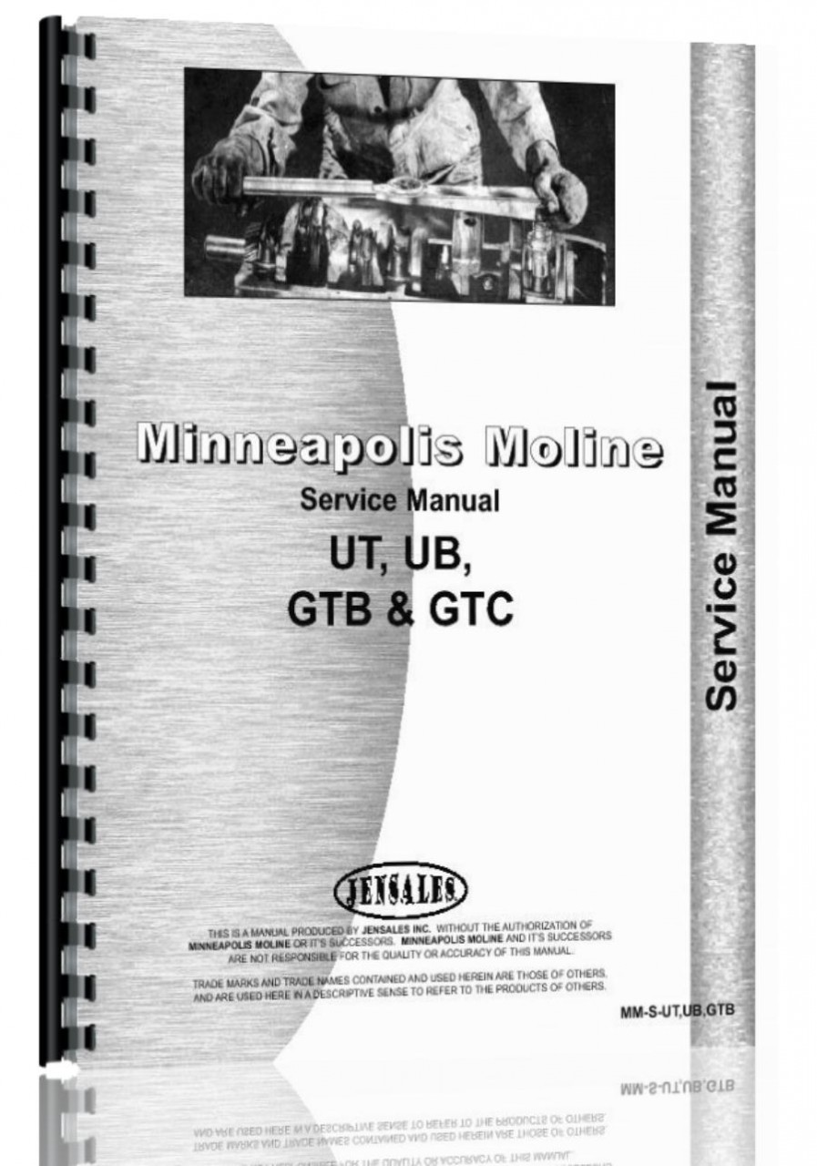 Minneapolis Moline UTS Tractor Service Manual (HTMM-SUTUBGTB)