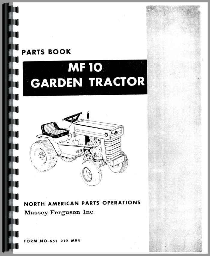 Massey Ferguson Part Numbers : Massey ferguson lawn garden tractor parts manual