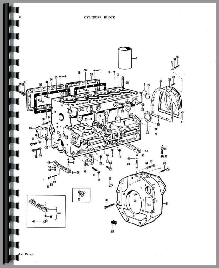 massey ferguson 1105 tractor parts manual