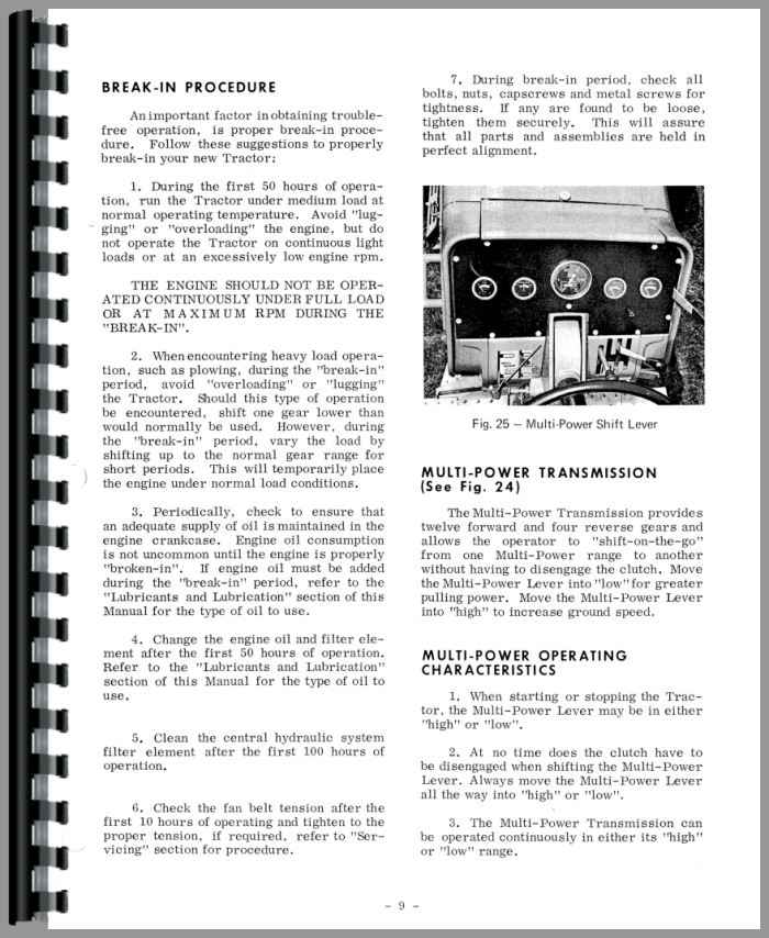 Massey Ferguson 1150 Tractor Operators Manual