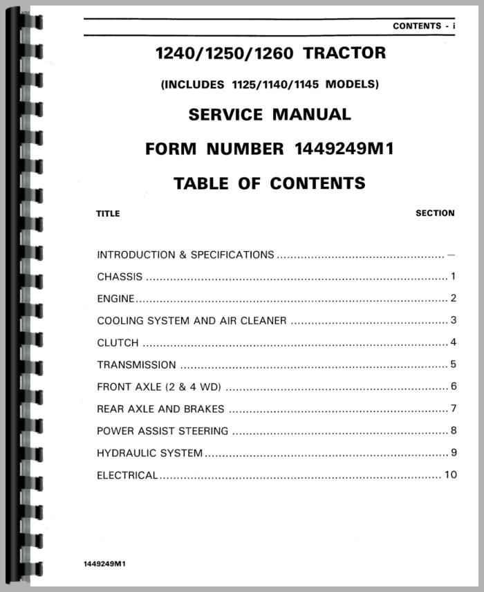 massey ferguson 1250 tractor service manual rh agkits com Massey Ferguson Shop Manual Online Massey Ferguson Shop Manual Online