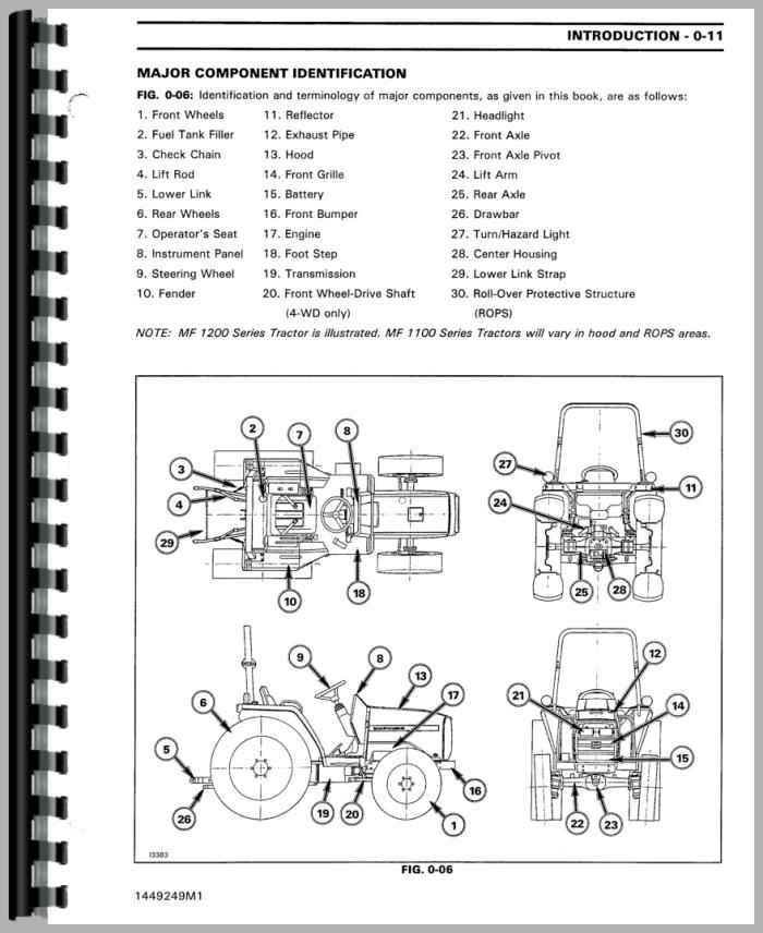 massey ferguson 1250 tractor service manual rh agkits com massey ferguson manuals for 1205/1215 massey ferguson manuals for 1205/1215