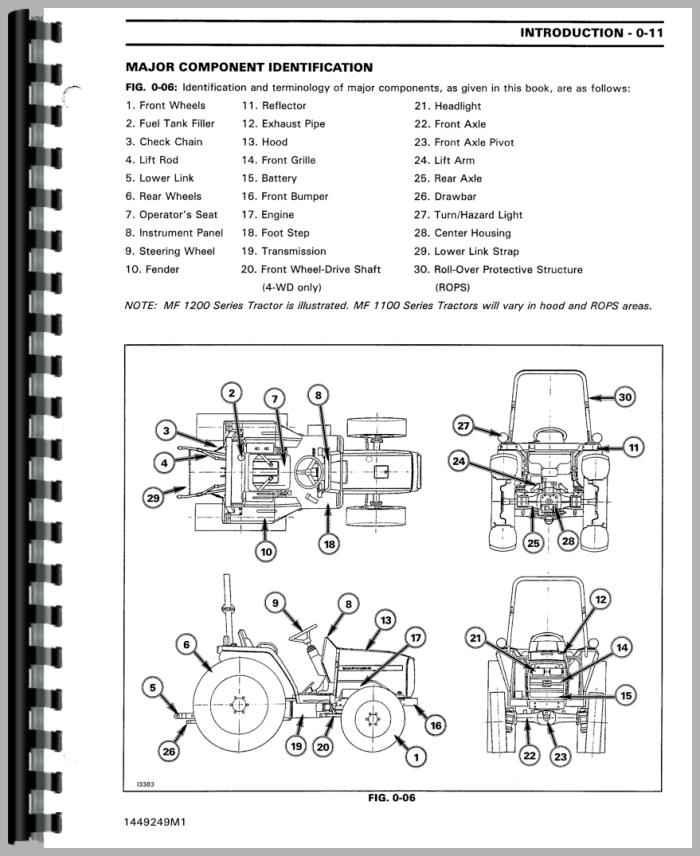 [DIAGRAM_4FR]  Massey Ferguson 1250 Tractor Service Manual | 1250 Ferguson Tractor Wiring Diagram |  | Agkits