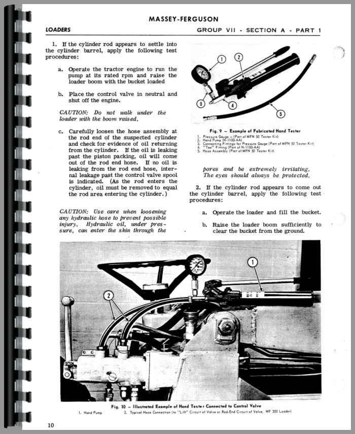 massey ferguson 135 loader attachment 100 service manual rh agkits com Massey Ferguson 135 Hydraulic Filter Massey Ferguson 240 Specifications