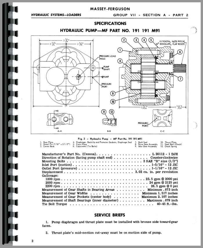 MasseyFerguson 135 loader Manual_95206_4__46121 massey ferguson 65 wiring diagram efcaviation com ferguson te20 wiring diagram at fashall.co