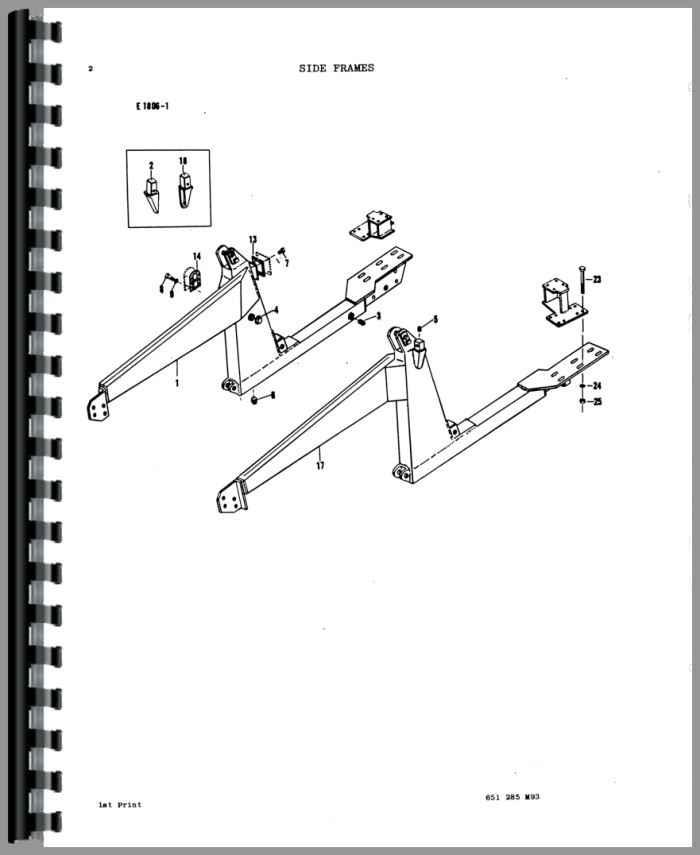 massey ferguson 150 loader attachment parts manual