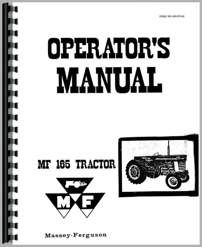 Massey Ferguson 165 Tractor Operators Manual Htmh Omf165