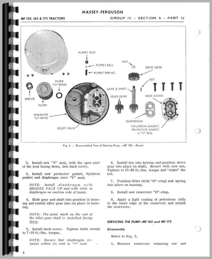 massey ferguson 165 tractor service manual