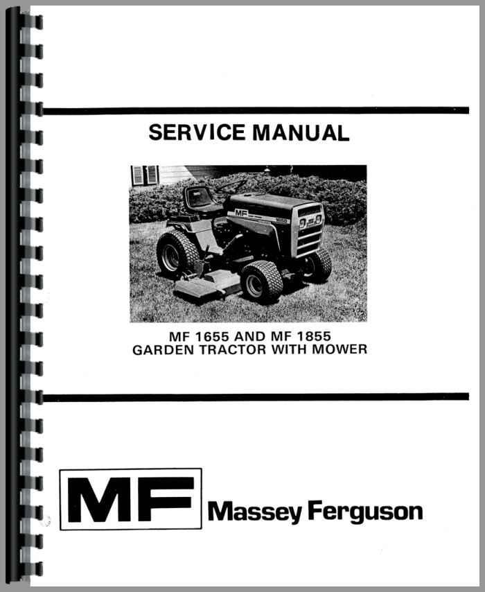 Massey Ferguson Lawn Tractor Parts : Massey ferguson lawn garden tractor service manual