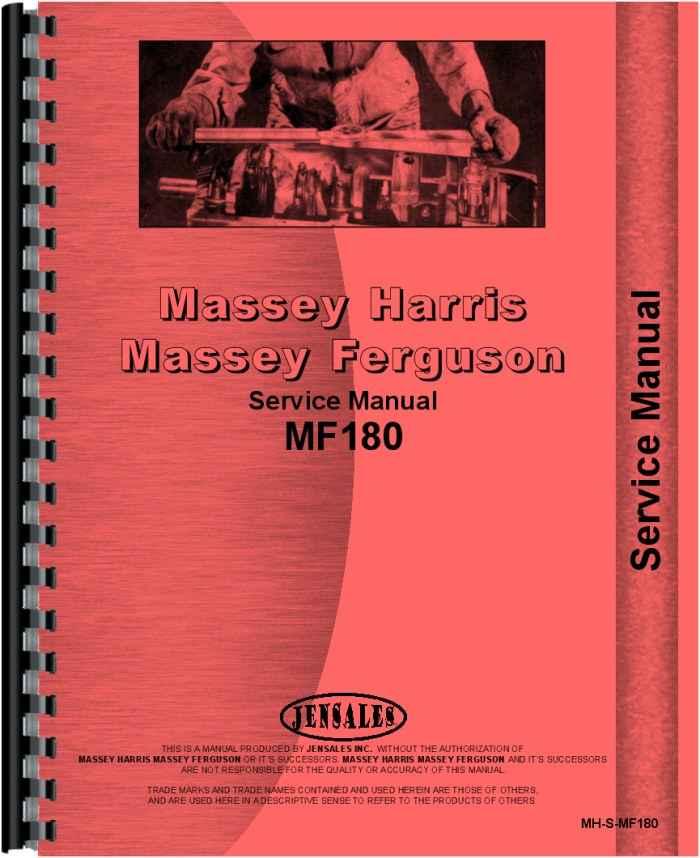 massey ferguson 180 tractor service manual rh agkits com Old Massey Ferguson Tractors Massey Ferguson 180 Tractor Parts