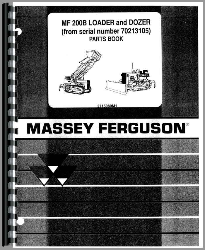 Massey Ferguson Mf 200 C D 200 C Tractor Loader Dozer Parts Manual Download Pdf By Heydownloads Issuu