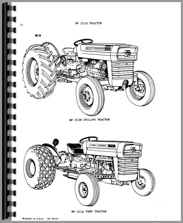 massey ferguson 2135 industrial tractor parts manual