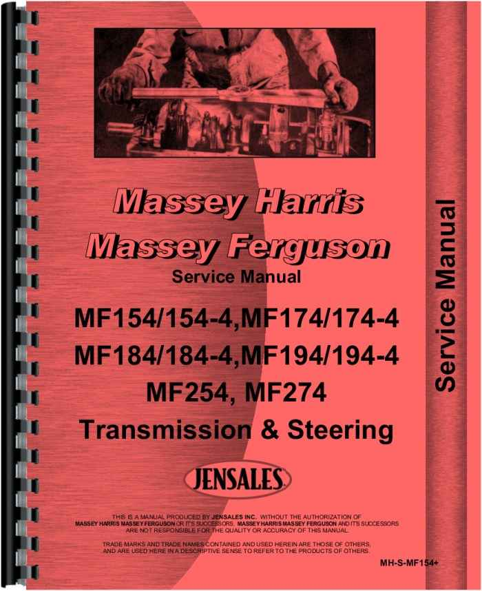 massey ferguson 254 tractor service manual rh agkits com massey ferguson 265 service manual Massey Ferguson 243 Parts Diagram