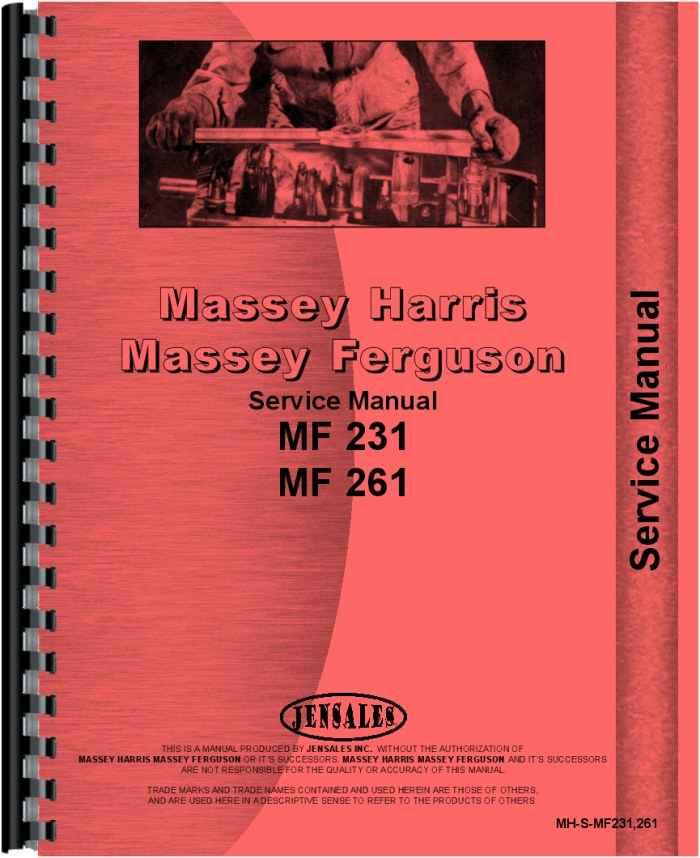 massey ferguson 261 tractor service manual rh agkits com 261 Massey Ferguson Radiator massey ferguson 261 repair manual