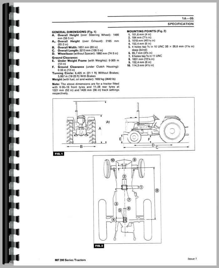 Massey Ferguson 270 Rubber Parts : Massey ferguson tractor service manual