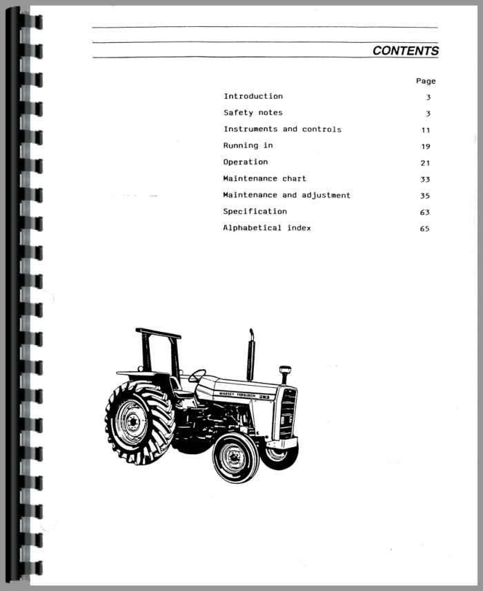 massey ferguson 283 tractor operators manual