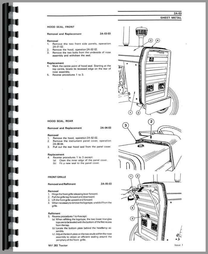 massey ferguson 283 tractor service manual