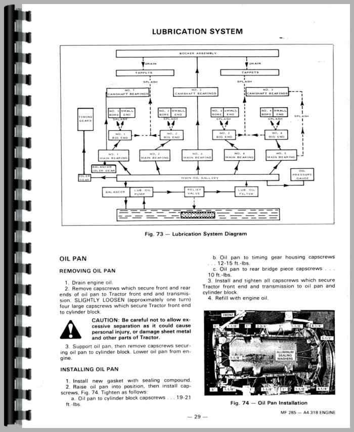 massey ferguson 285 tractor service manual rh agkits com Massey Ferguson 285 Steering Diagram massey ferguson 285 service manual download