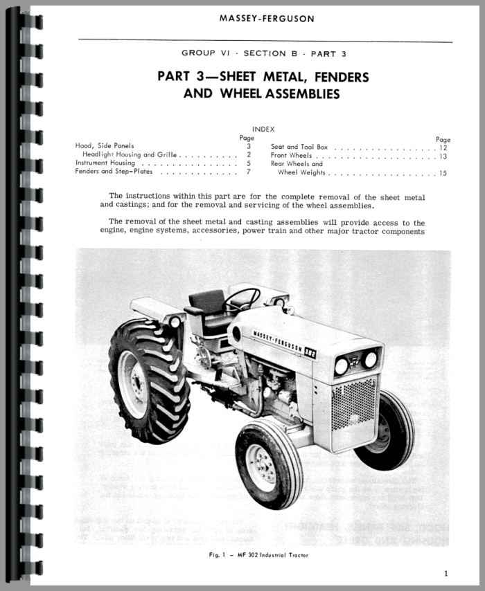 Massey Ferguson Tractor Troubleshooting : Massey ferguson industrial tractor service manual