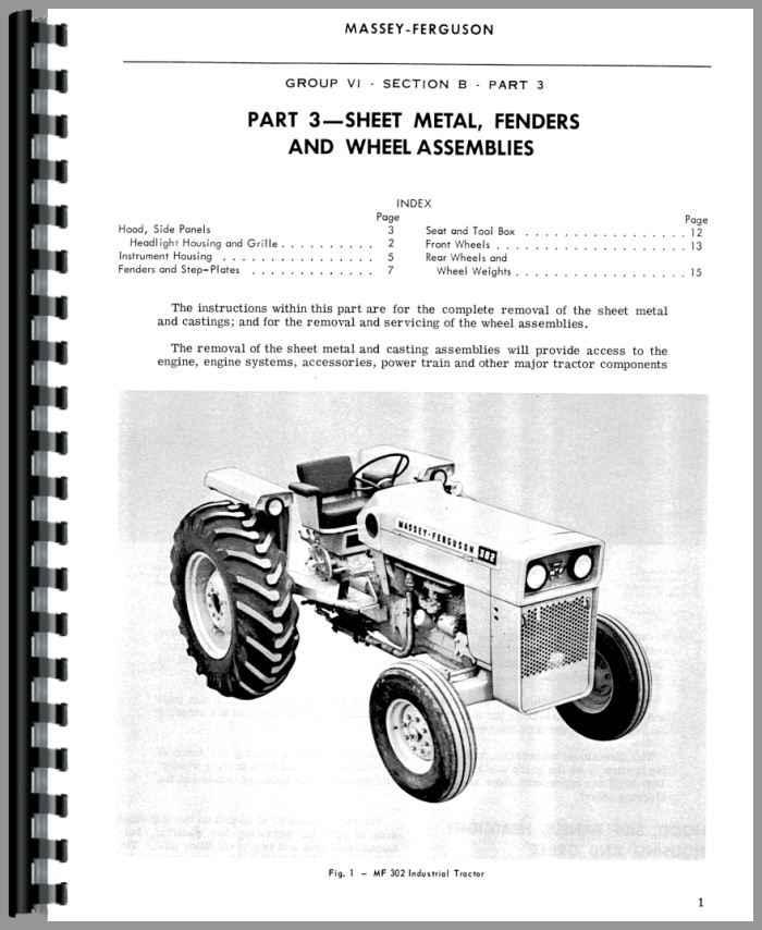 Massey Ferguson 304 Industrial Tractor Service Manual