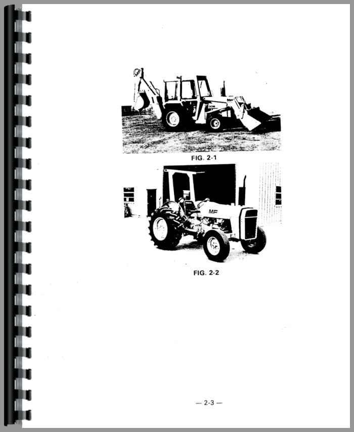 Mf 30b Tractor : Massey ferguson b industrial tractor operators manual