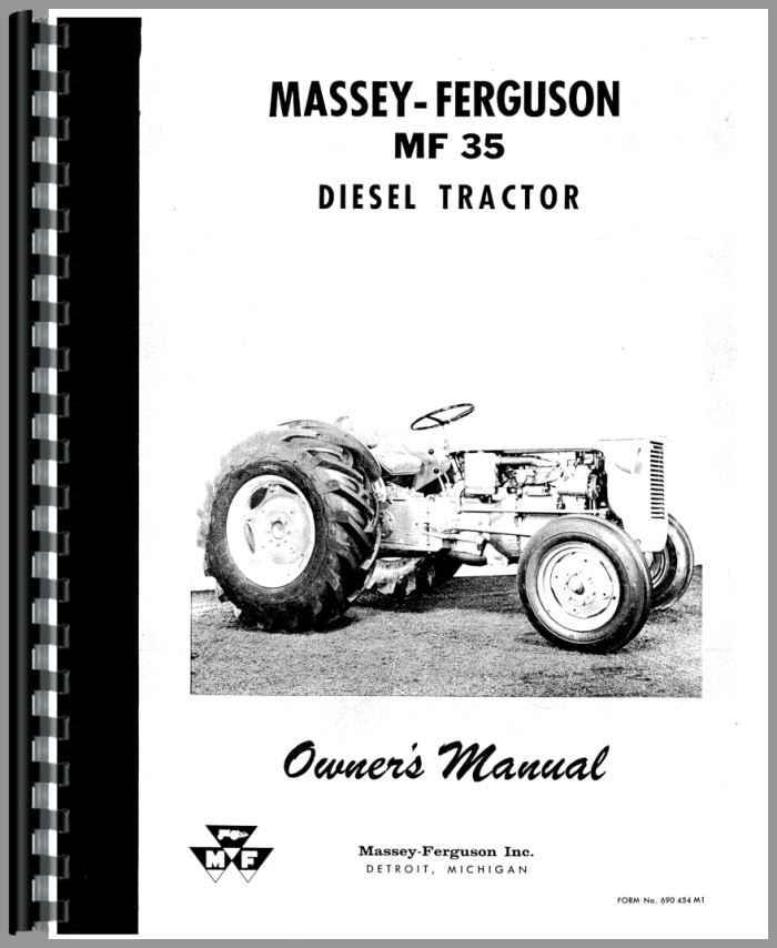 massey ferguson 35 tractor operators manual rh agkits com massey ferguson 35 owners manual download massey ferguson mf 35 service manual