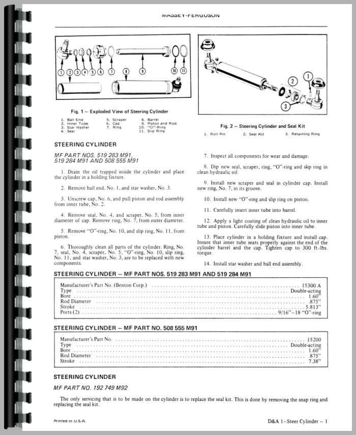 Swinger 200 Loader Parts Manual