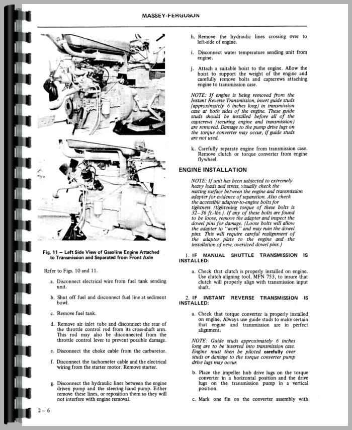Massey Ferguson Industrial Backhoe Parts : Massey ferguson industrial tractor service manual