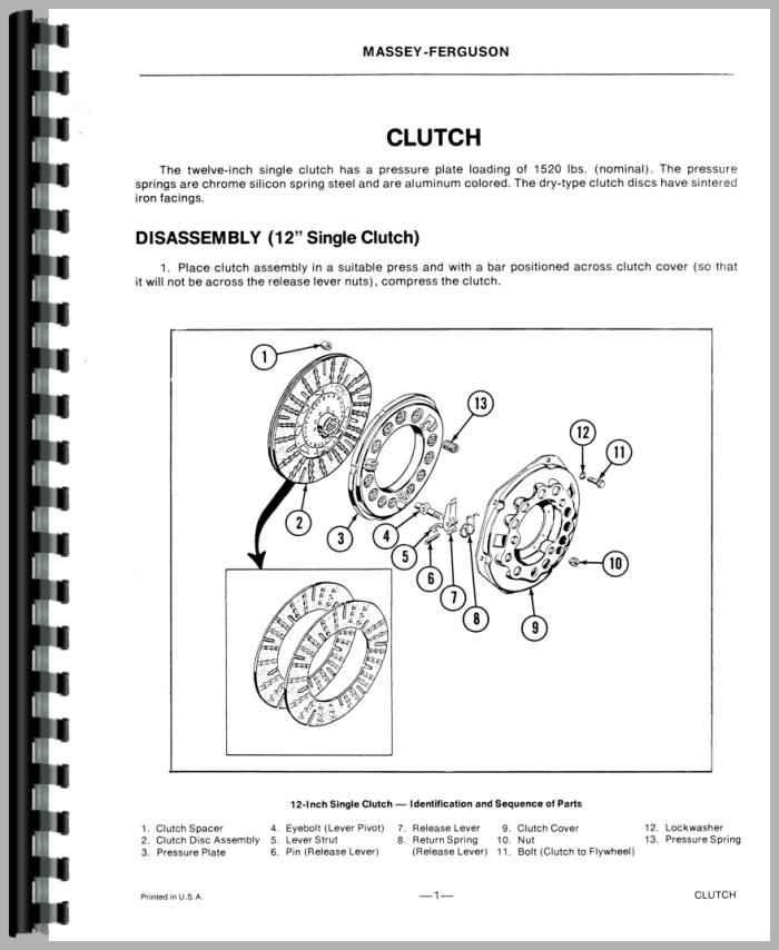 Mf 50 Parts : Massey ferguson tractor service manual