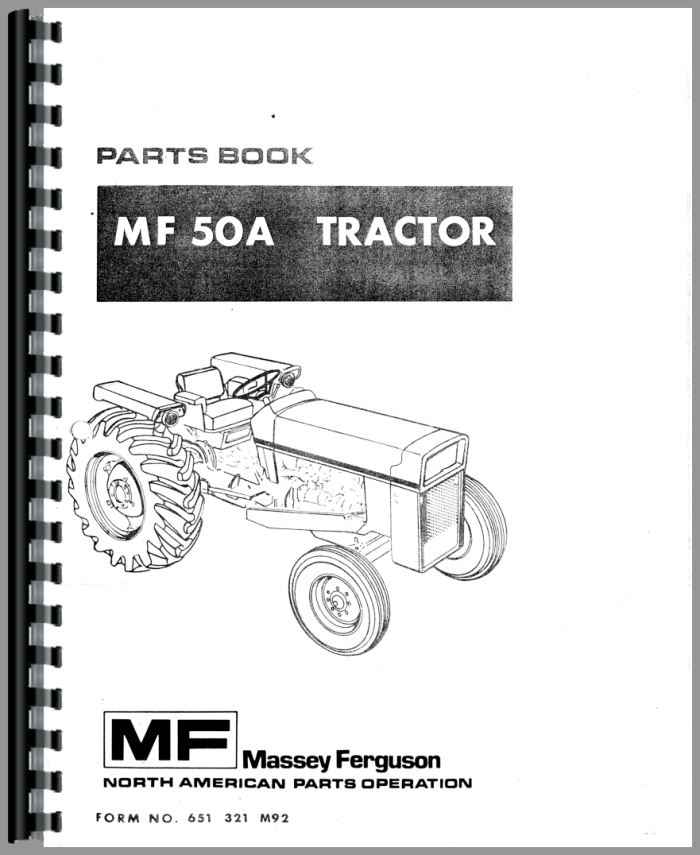 Massey Ferguson Combine Parts : Massey ferguson a industrial tractor parts manual