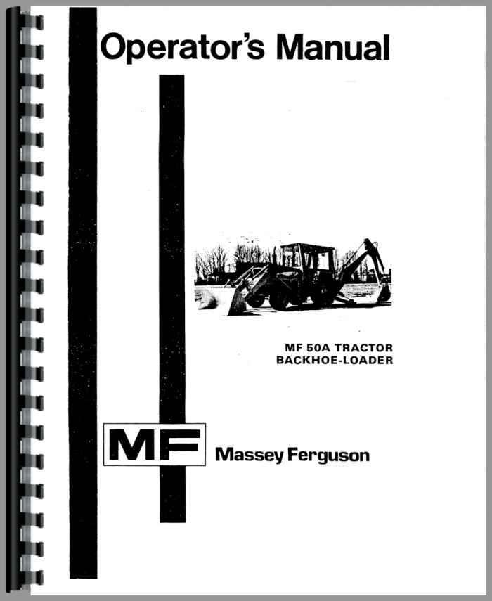 massey ferguson 50a industrial tractor operators manual