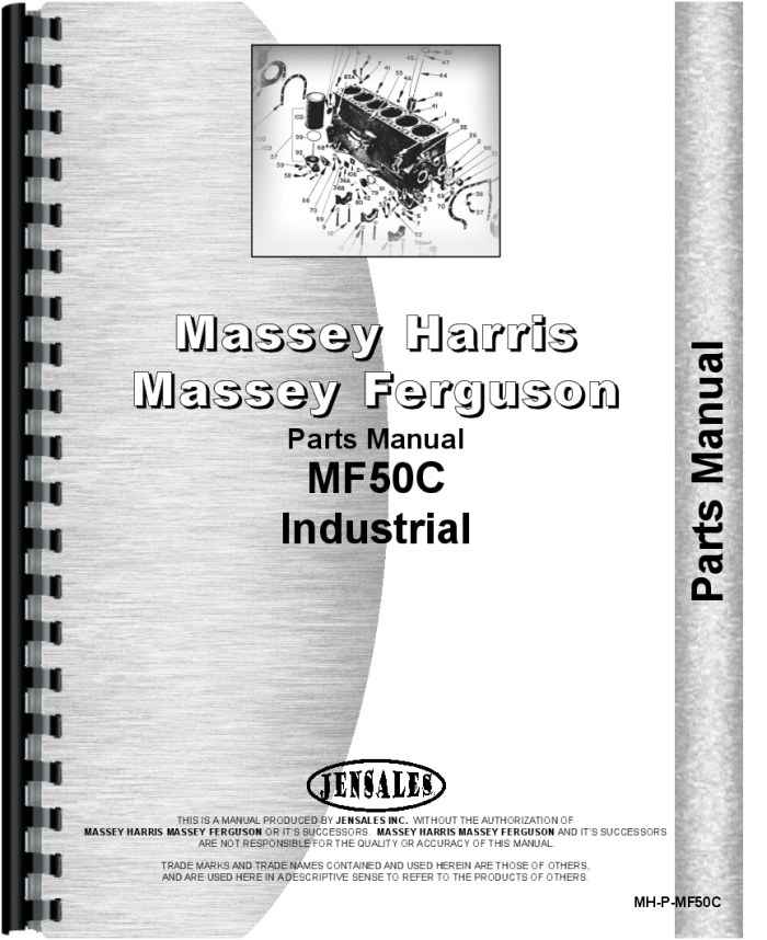 Massey Ferguson 50c Industrial Tractor Parts Manual