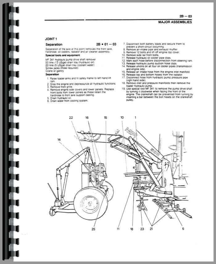 massey ferguson 50h tractor loader backhoe service manual