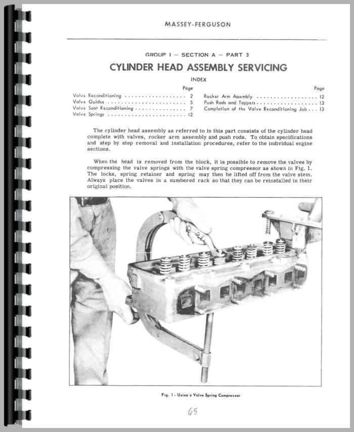 massey ferguson 65 manual pdf